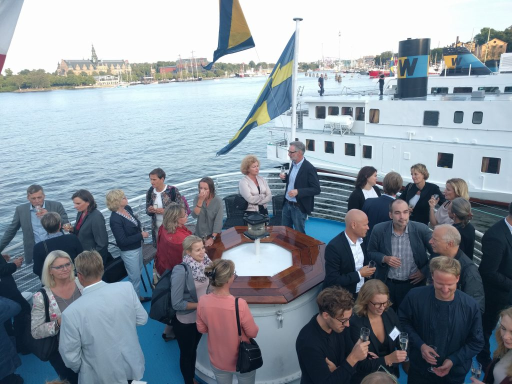 Oxenstierna & Partners -viestintätoimiston 10-vuotisjuhla Tukholmassa.