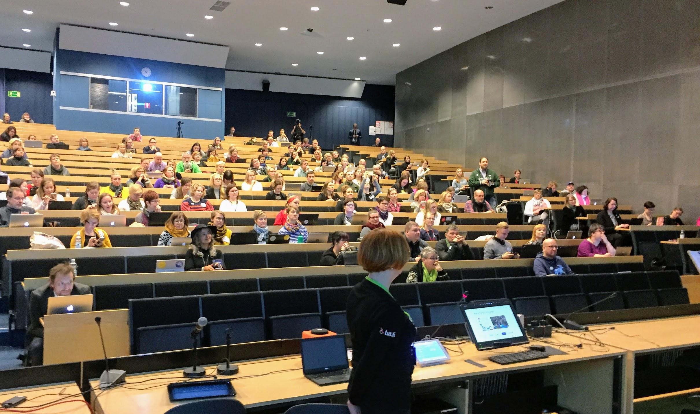 Yleisöä CMADFI 2018 Lappeenrannan teknillinen yliopisto Kuva TW